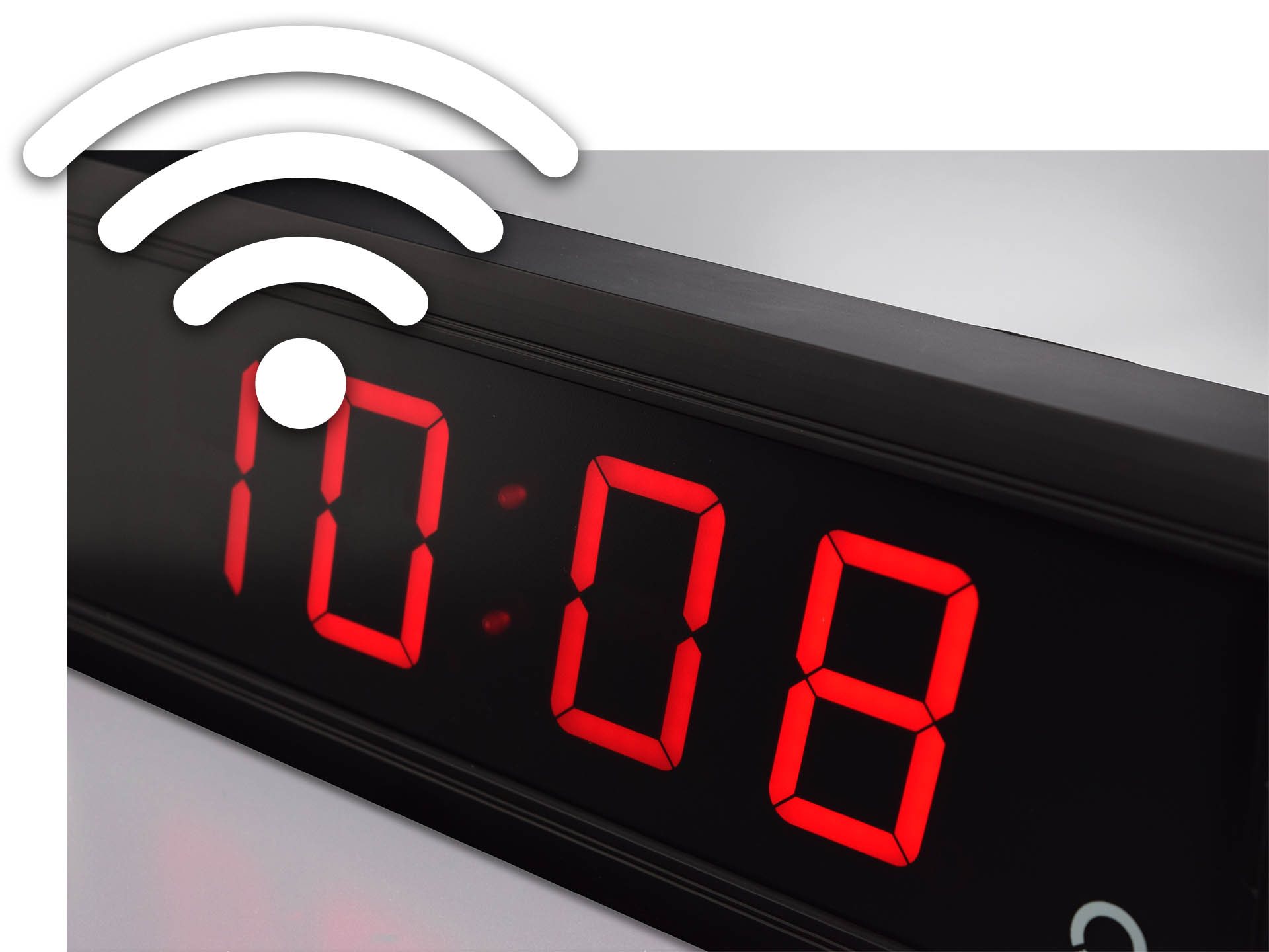 indoor digital clock ECO DC with wifi icon