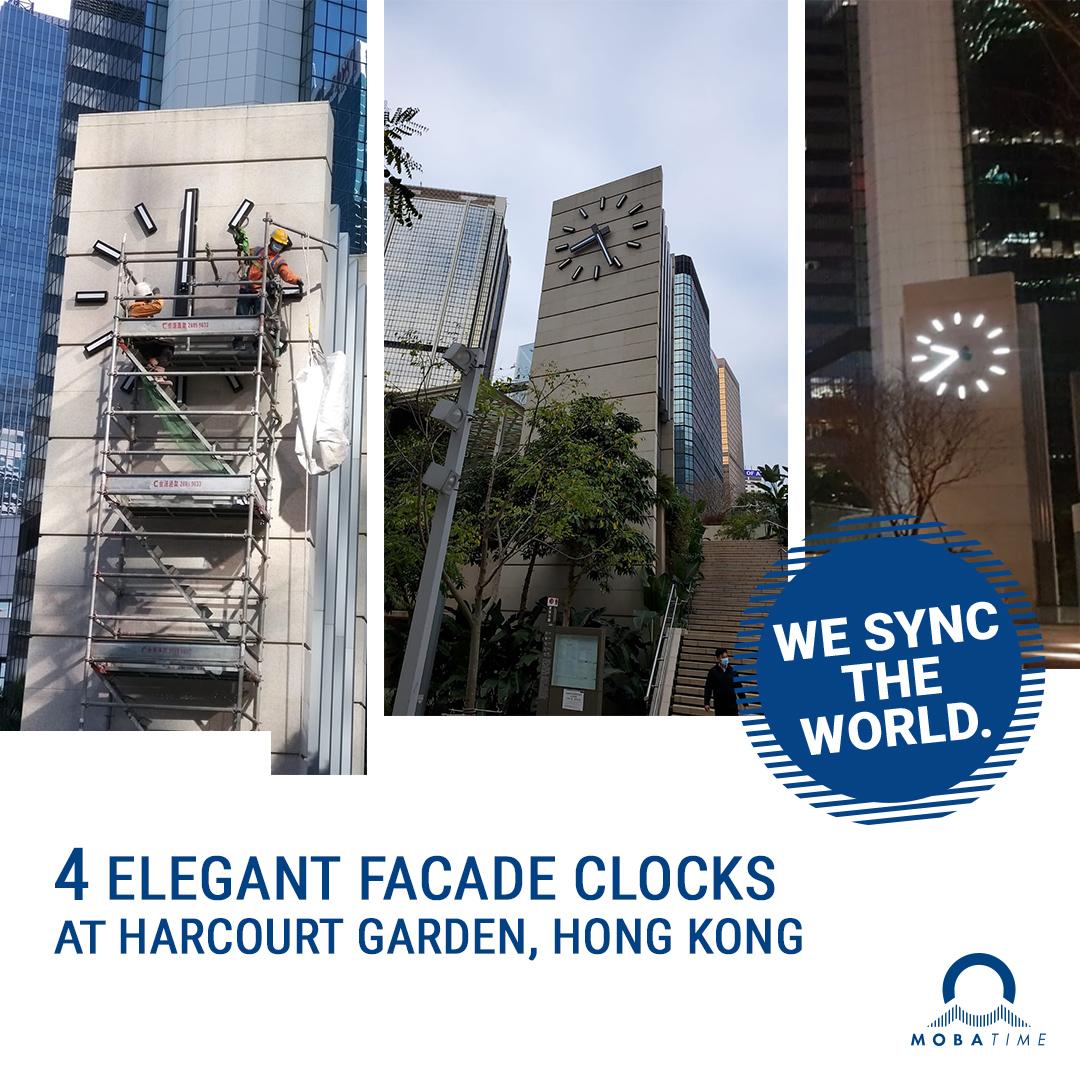 facade clocks hong kong harcourt garden