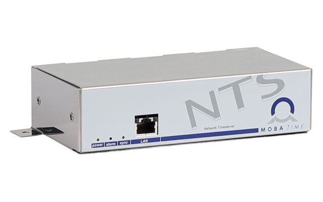 Mobatime nts-3 Time server side view NTP DCF side view