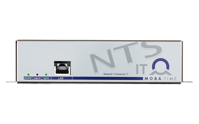 Mobatime ntsit-1 time server for IT NTP DCF front view web interface
