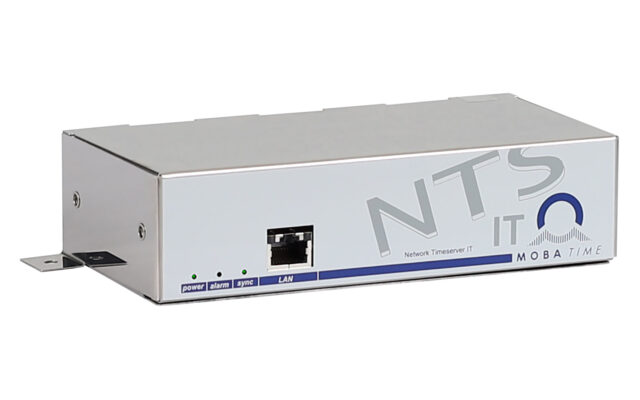 Mobatime ntsit-3 time server for IT NTP DCF side view, web interface