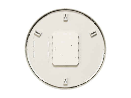 Trend indoor analogue clock back view white housing