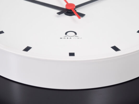 Trend indoor analogue clock white housing detail view
