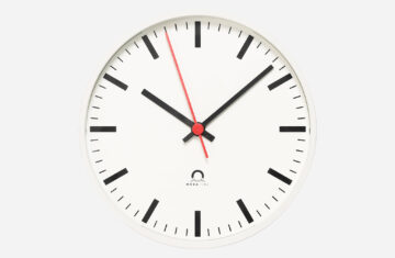 Trend indoor analogue clock white housing slim clock