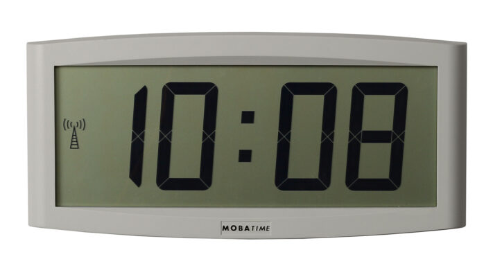 Mobatime CRISTALTIME_front indoor digital clocl time date weekdays temperature