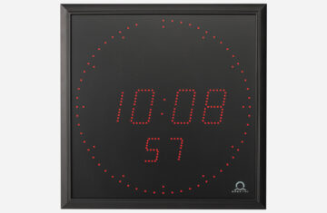 Mobatime DA57_rp indoor digital clock time date temperature black housing
