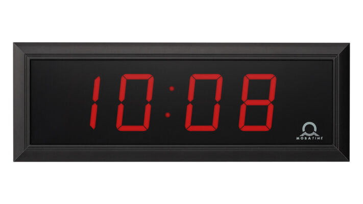 Mobatime DC-57-4_1 indoor digital clock time date temperature black housing