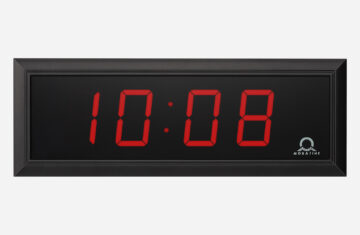 Mobatime DC Series indoor digital clock black Housing, time date temperature