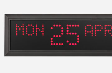 Mobatime DK Series indoor digital clock time date weekdays temperature