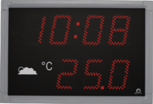 Mobatime DT100-4-fi outdoor digital clock time temperature black housing