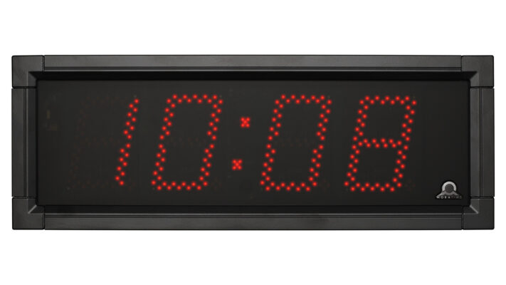 Mobatime DSC-100-4-1 outdoor digital clock black housing