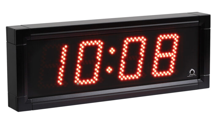 Mobatime DSC-100-4-3 outdoor digital clock black housing
