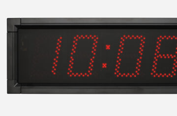 Mobatime DSC-100-4-rp outdoor digital clock black housing