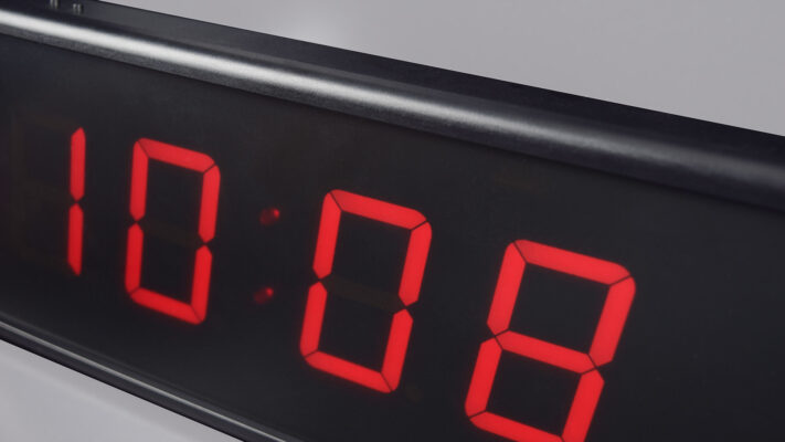 Mobatime ECO-M-DC57-4-5 indoor digital clock black housing