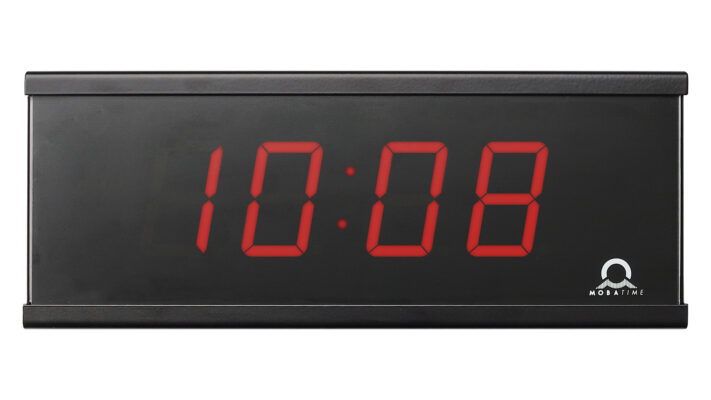 Mobatime ECO-M-DC57-4-1 indoor digital clock black housing