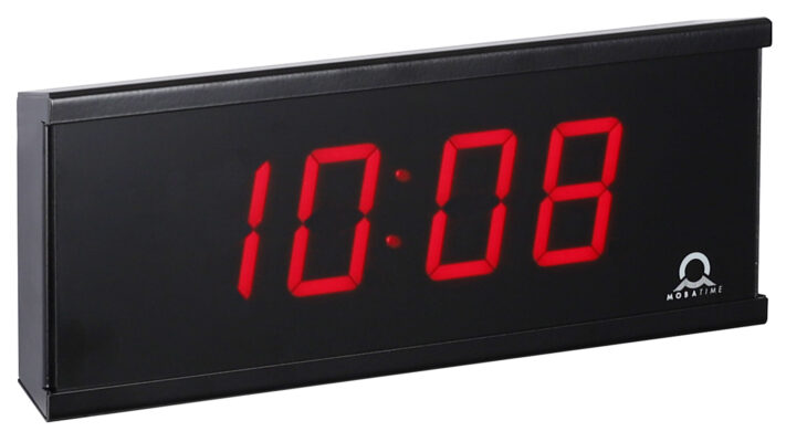 Mobatime ECO-M-DC57-4-3 indoor digital clock black housing