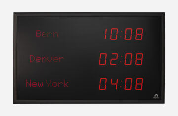 Mobatime TZI-57-rp indoor digital clock time location name