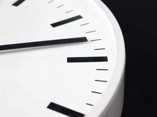 Indoor clock Trend, Detail, white housing, white dial, black hands